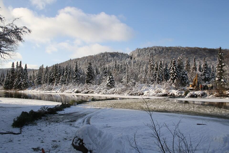 Estacade sur la rivière Sainte-Anne