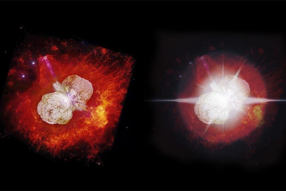 Une image d'Eta Carinae prise par Hubble en 2000.