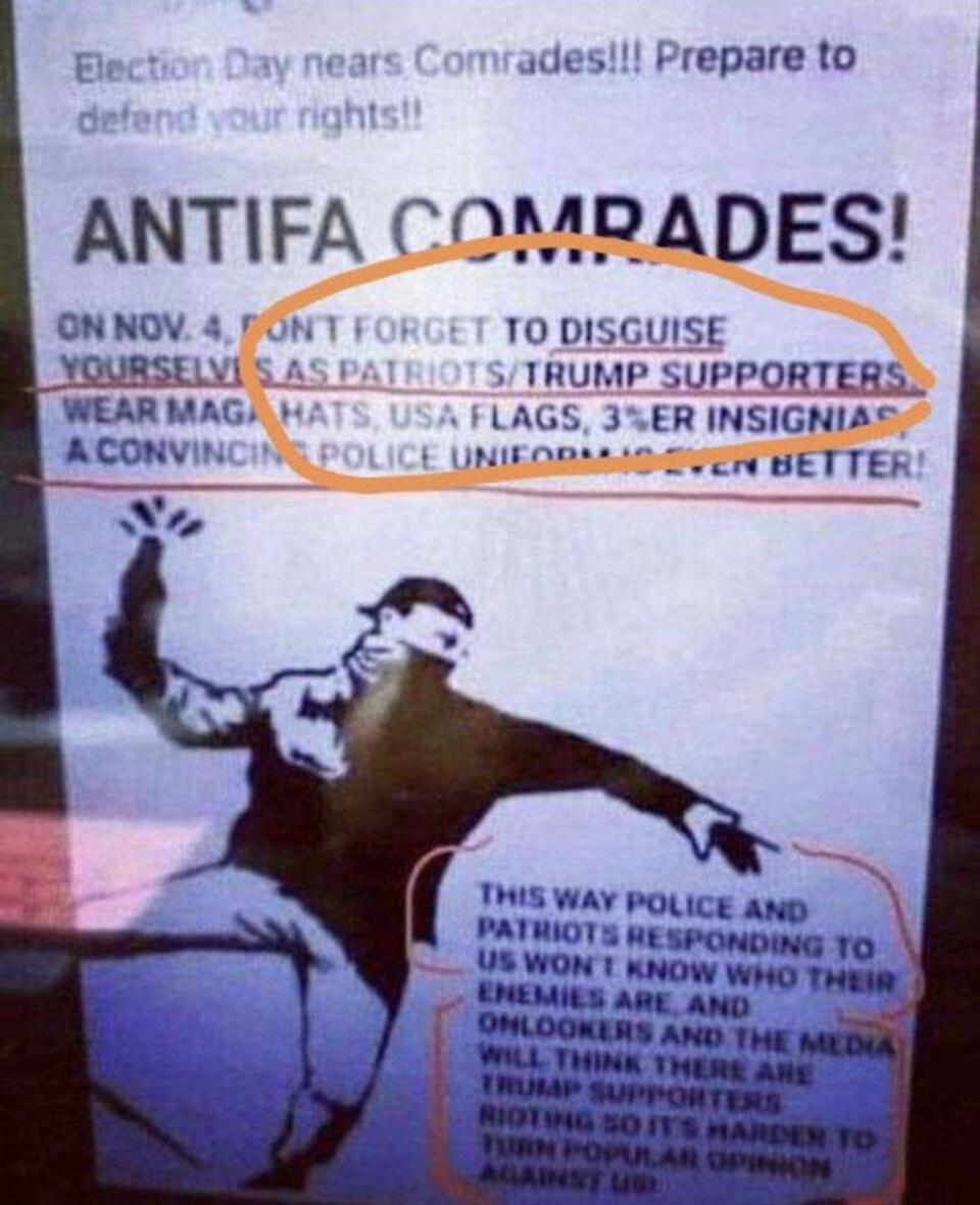 C'est une affiche comportant une personne qui lance un cocktail Molotov.