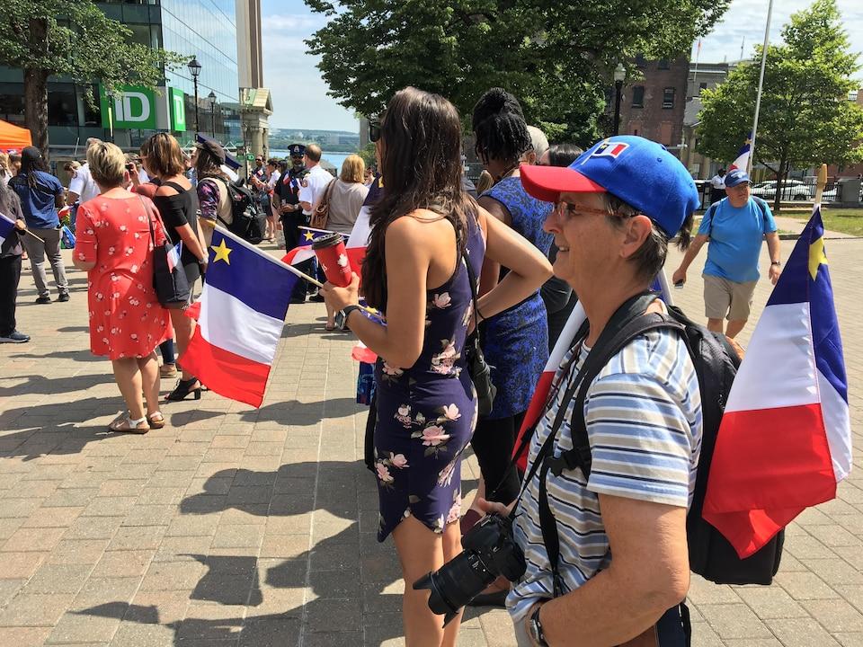 La fête nationale de l'Acadie soulignée à Halifax, en Nouvelle-Écosse, le 15 août 2019.
