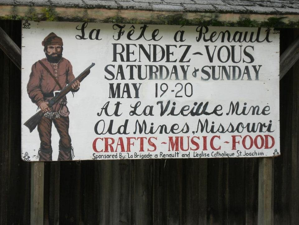 Une affiche d'une fête francophone