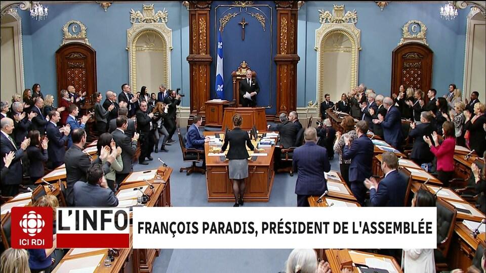 Vue d'ensemble de l'Assemblée nationale du Québec