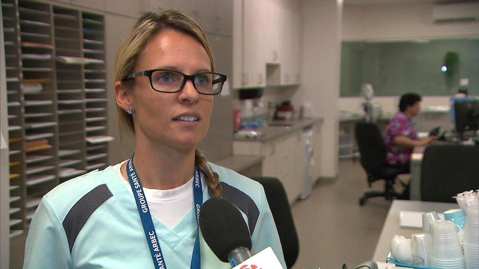 Gabrielle Côté, infirmière auxiliaire au CHSLD Marguerite-Rocheleau du Groupe Santé Arbec