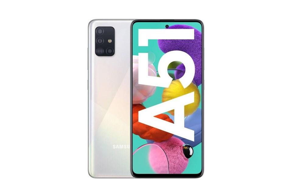 Un téléphone intelligent Galaxy A51 de Samsung.