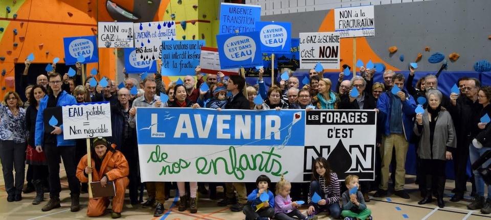 Plusieurs résidents de la MRC de Lotbinière s'opposent à l'exploitation du gaz de schiste dans leur région.