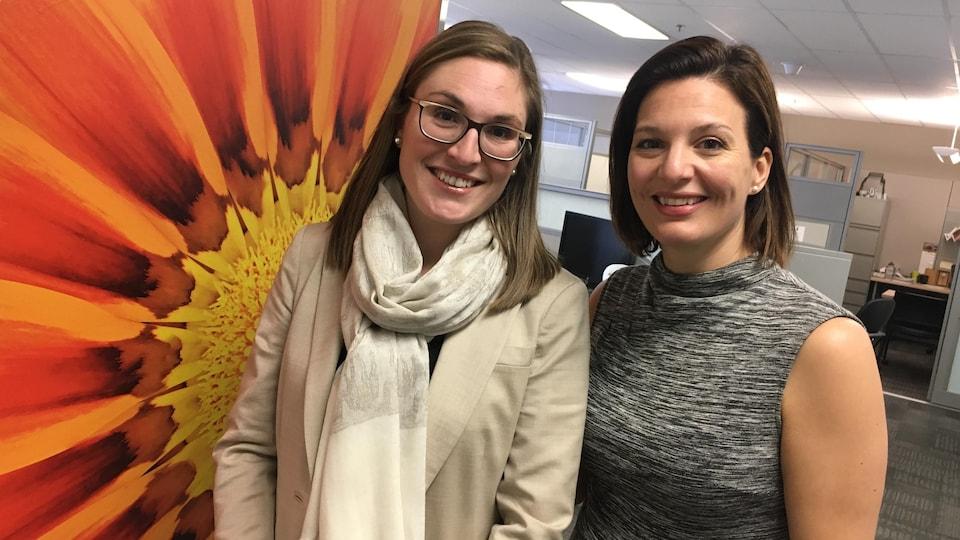 Geneviève Brunet-Denis, conseillère en marketing, et Catherine Bédard, directrice générale du service Personnes et culture, pour Telus