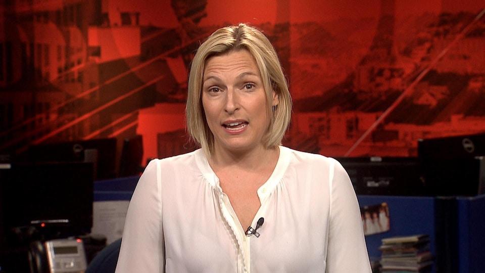 Geneviève Dufour, en entrevue mardi à l'émission «24/60».