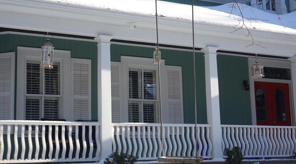Vue extérieure de la résidence d'Unionville qui a été utilisée pour représenter la maison de Lorelai.