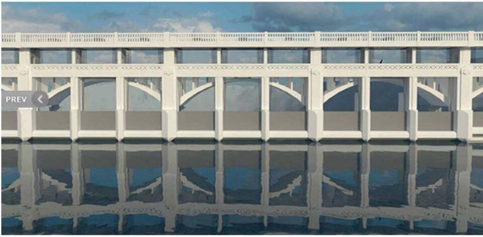 Le barrage du réservoir Glenmore aura de nouvelles barrières en acier et un pont piétonnier surélevé.