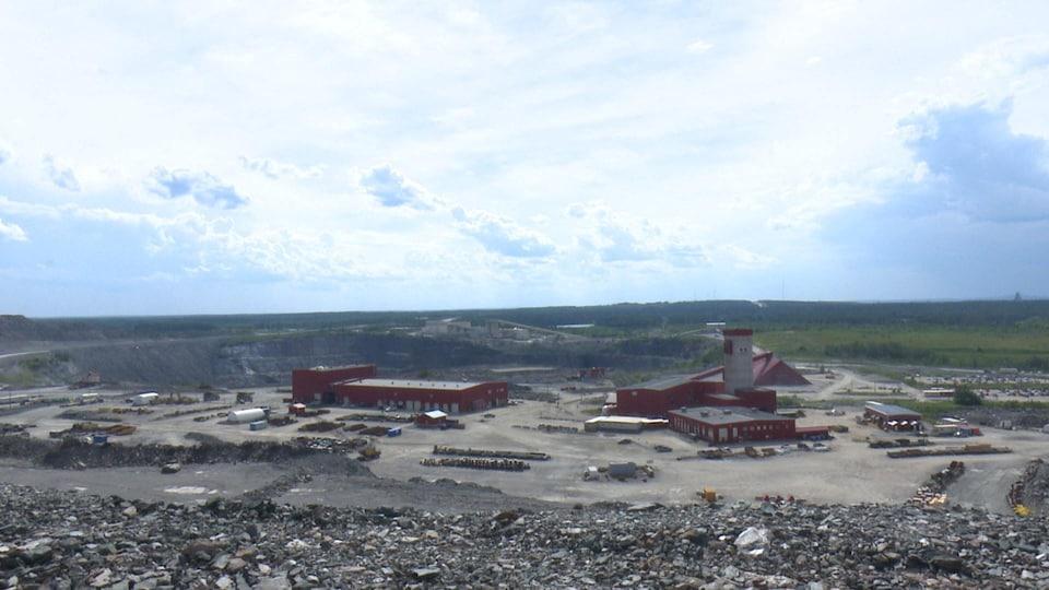 Les bureaux de la minière Goldcorp à Timmins.