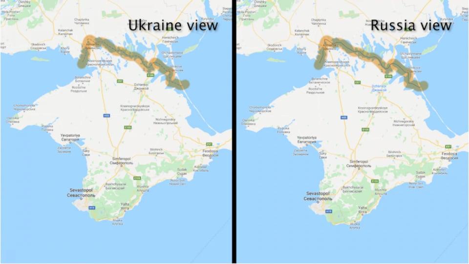 Deux cartes de la Crimée