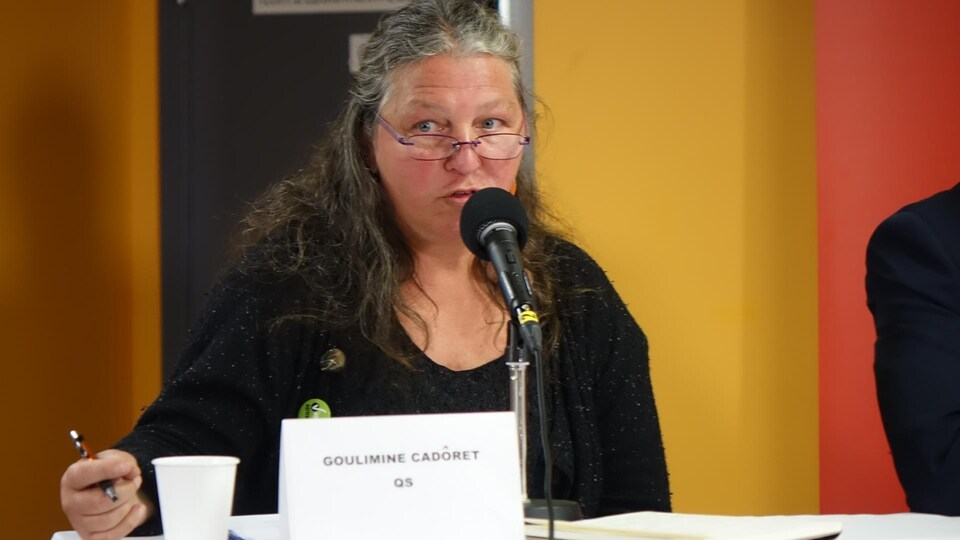 Goulimine Sylvie Cadôret, candidate de QS