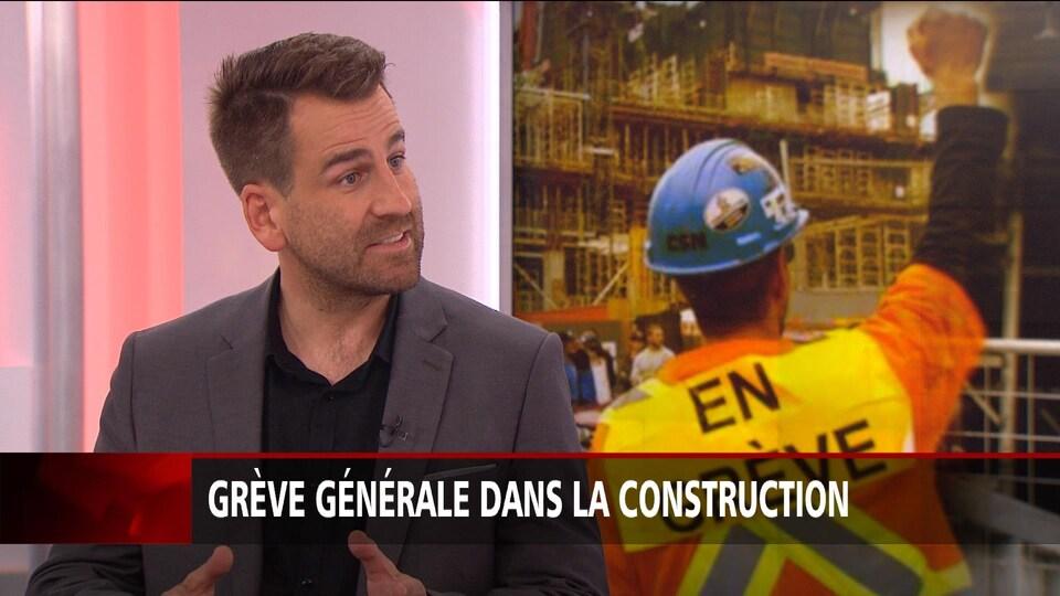 Michel Trépanier porte-parole de l'Alliance syndicale de la construction