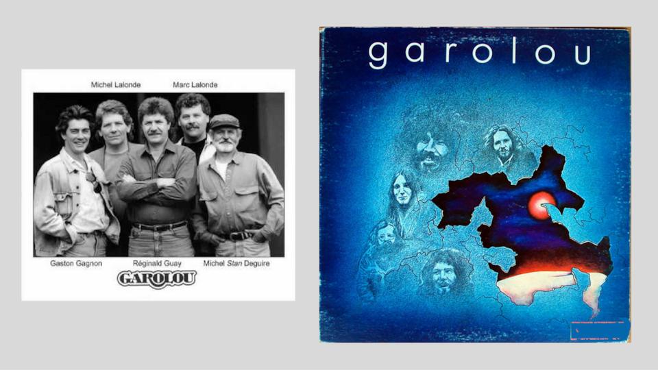 Photo des 5 membres et la pochette du disque