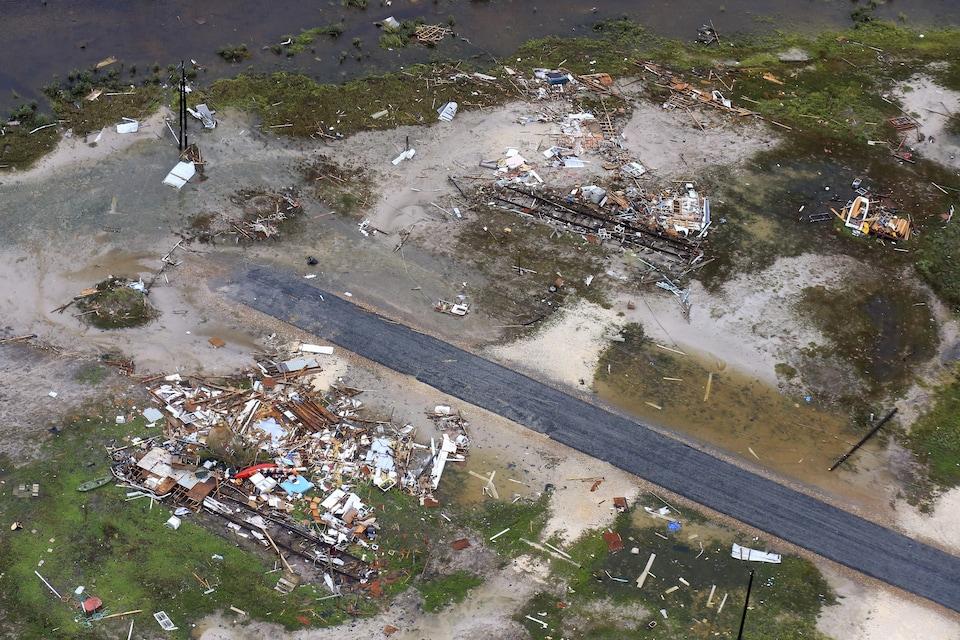 Vue aérienne des dégâts causés par Harvey à Corpus Christi