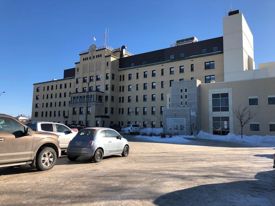 Extérieur de l'hôpital de Matane.