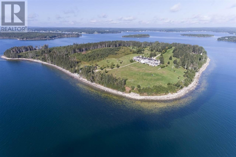 L'île vue du ciel