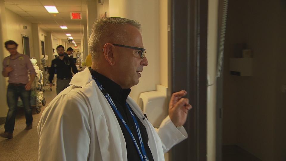Bruno Lévesque est intervenant spirituel à l'hôpital de Rimouski.