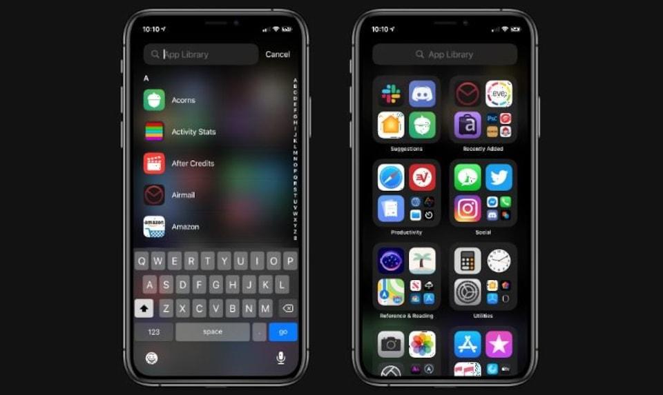 Deux iPhone, côte à côte.