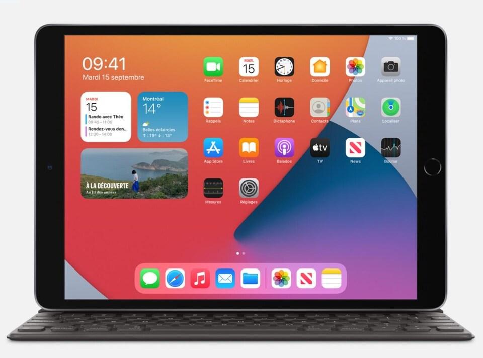 Un iPad équipé d'un clavier.