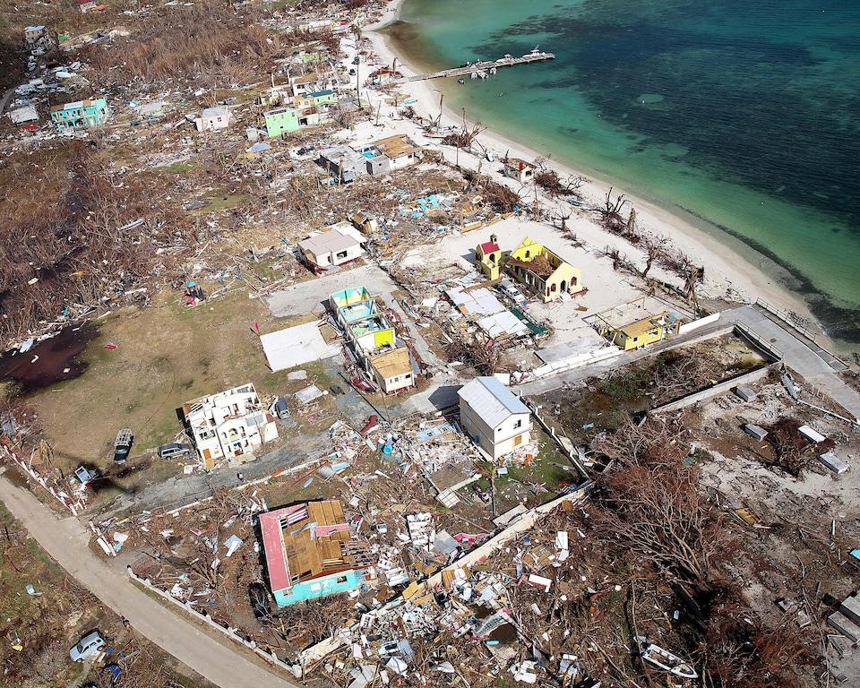 L'ouragan Irma a été sans pitié pour Tortola dans les îles Vierges britanniques.