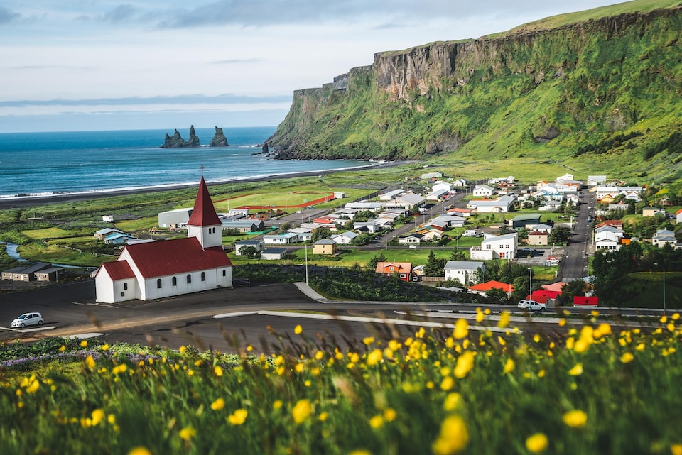 Le village de Vik i Myrdal, en Islande.