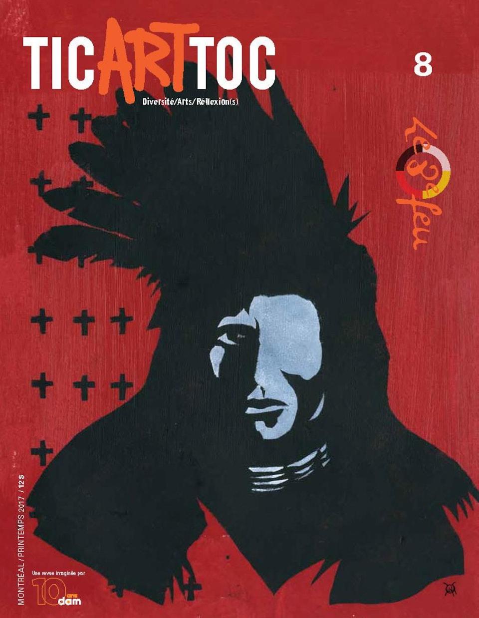 """La couverture de la revue TicArtToc #8 est illustrée par Jacques Newashish et est intitulée """"Résilience"""""""