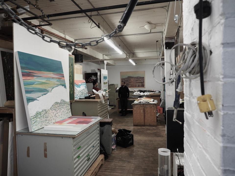 L'atelier d'artiste de Jason Cantoro.