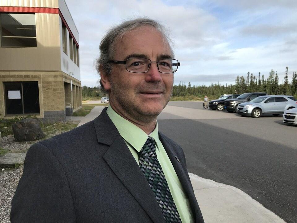 L'historien Jason Churchill à Happy Valley-Goose Bay, le 19 septembre 2018.