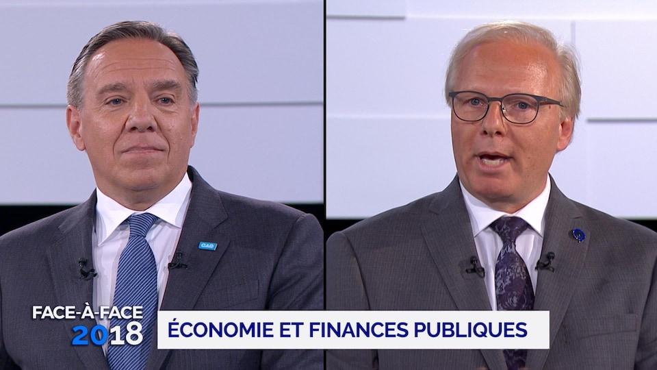 Un montage photo montre François Legault et Jean-François Lisée.