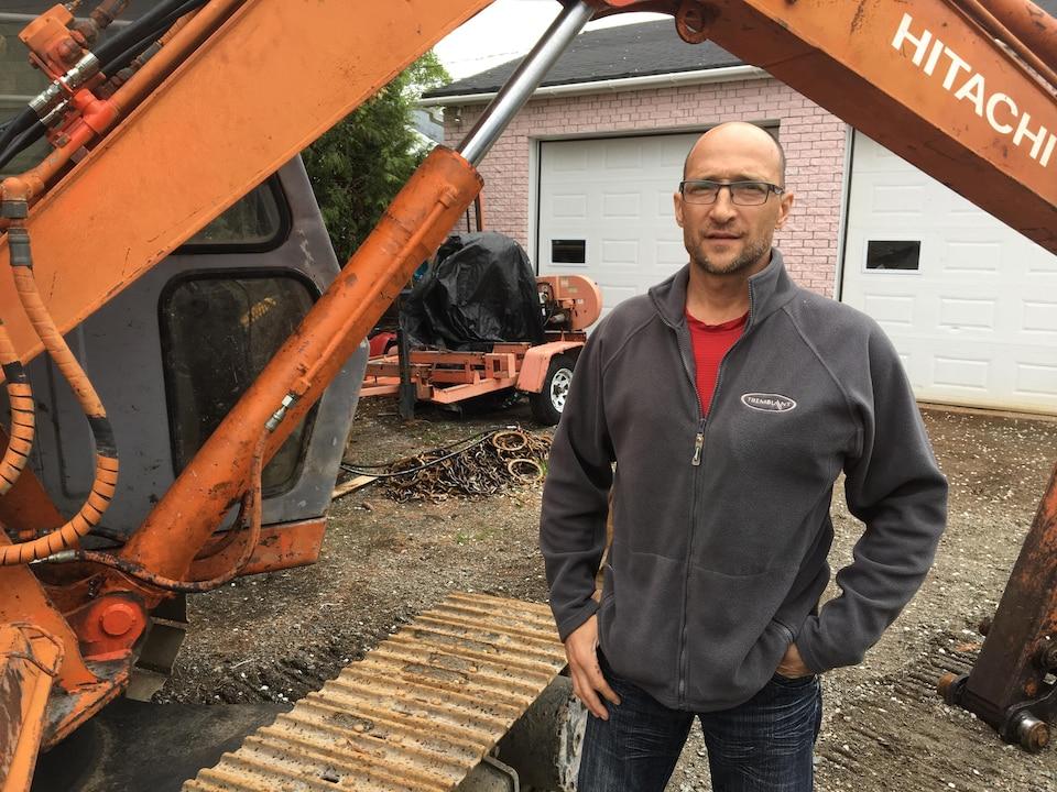 Jean-Paul Potvin a participé au sauvetage minier lors des deux effondrements à la Mine Westwood.