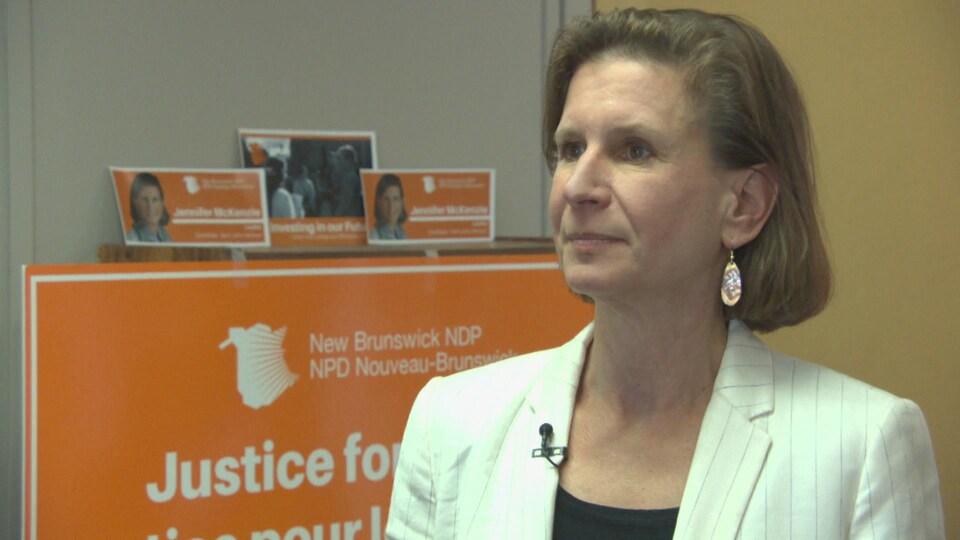 Jennifer Mckenzie, chef du Nouveau Parti démocratique du Nouveau-Brunswick.