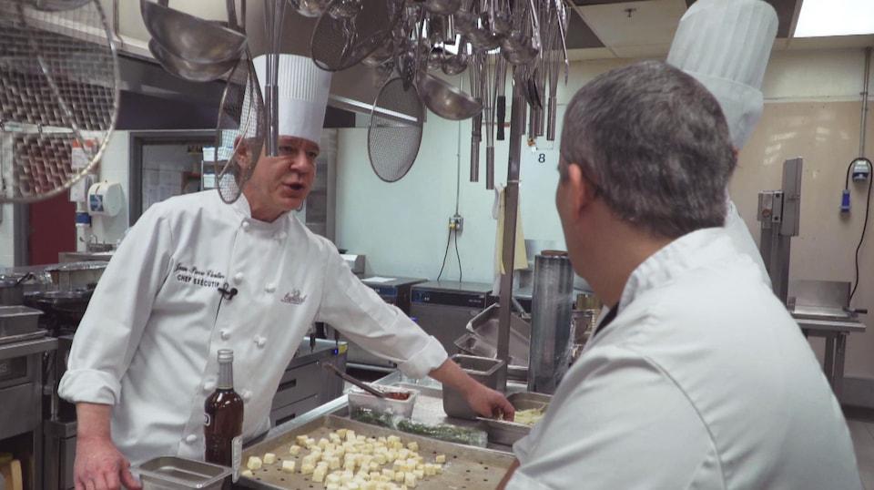 Le chef cuisinier du Centre des congrès de Québec, Jean-Pierre Cloutier.