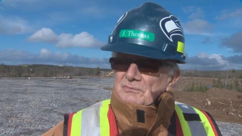 Le vice-président des projets pour Atlantic Gold, John Thomas
