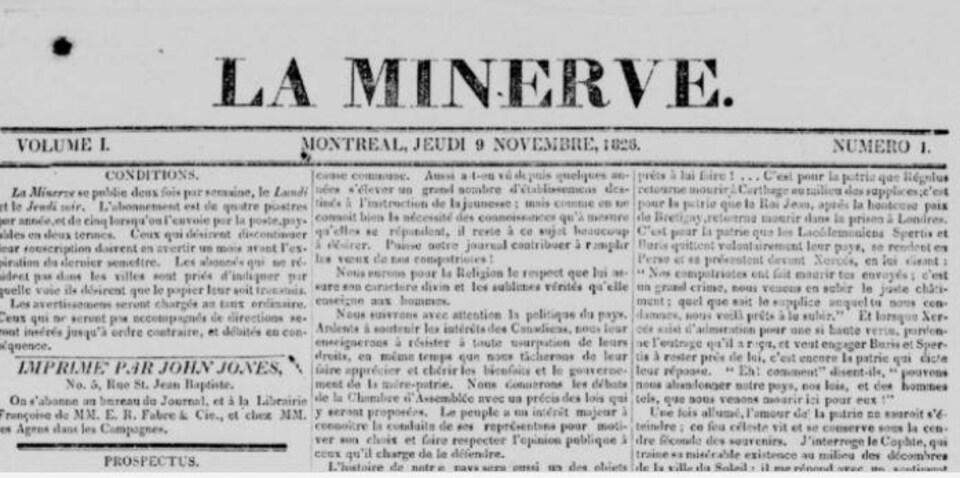 Couverture du jeudi 9 novembre 1826