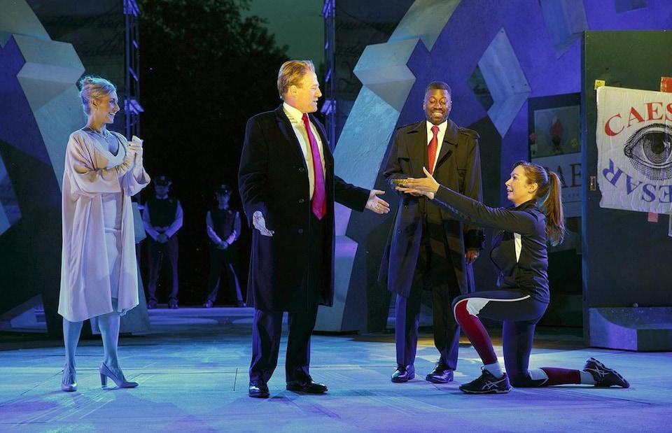 La pièce «Julius Caesar», de la troupe Public Theater de New York