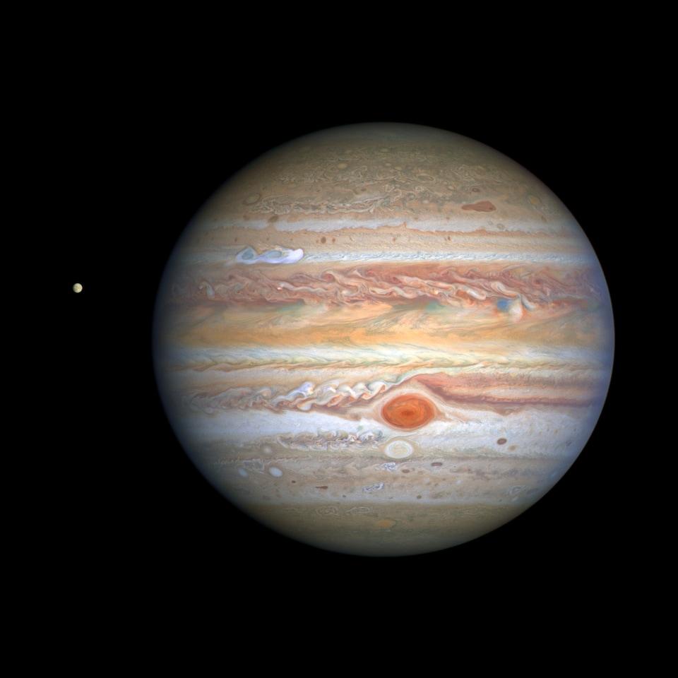 La planète Jupiter.