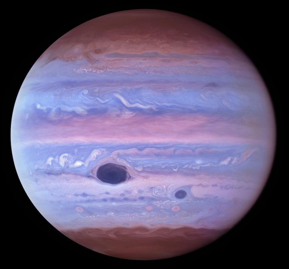 Jupiter in ultraviolet rays.