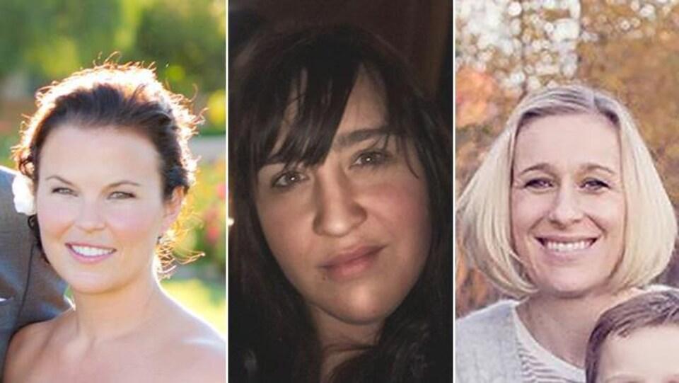 Des photos personnelles de Katie Bertram, Émilie Cousineau et Allison Forsyth.