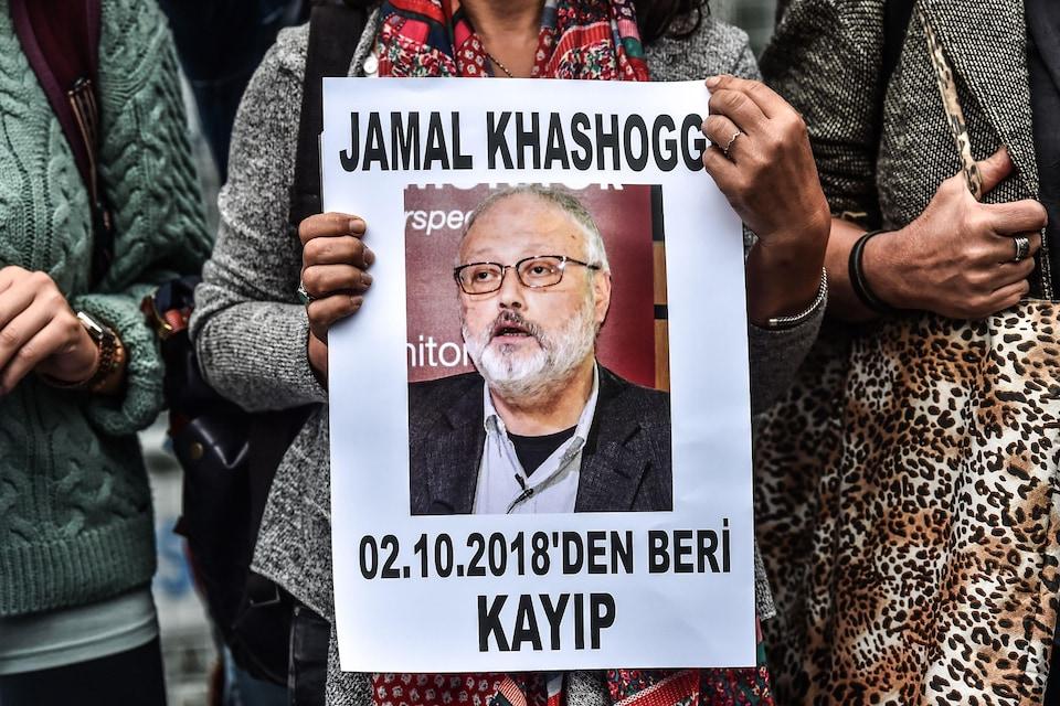 Une affiche du journaliste Jamal Khashoggi.