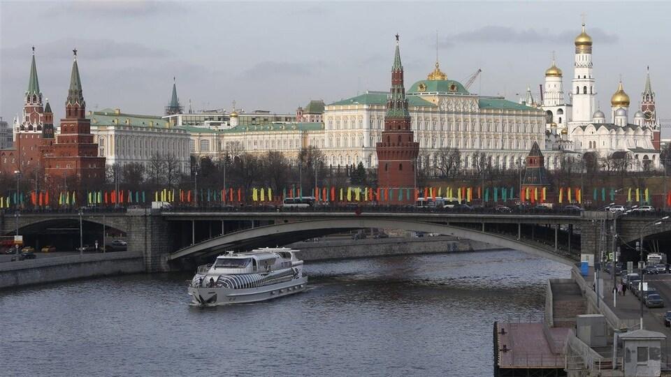 Vue du Kremlin, à Moscou
