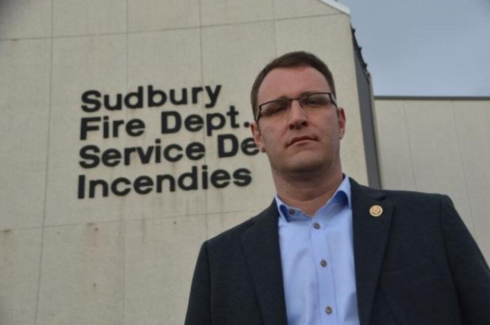 Kris Volpel est le président du syndicat des pompiers professionnels du Grand Sudbury.