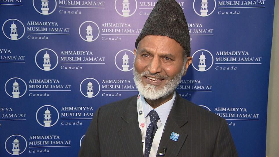 Lal Khan Malik, président national de la communauté Ahmadiyya Muslim Jama'at du Canada à Saskatoon.