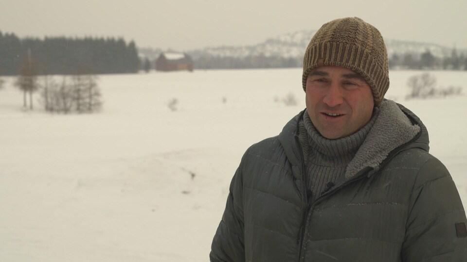 Jérôme Landry, producteur agricole à Saint-André-de-Kamouraska