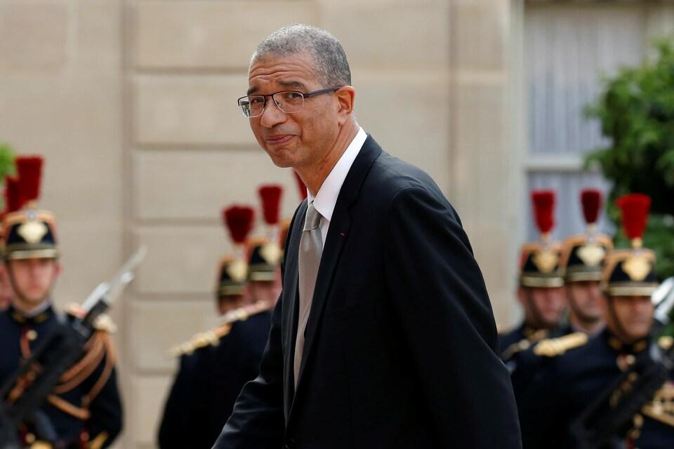 Lionel Zinsou, de profil, le visage souriant
