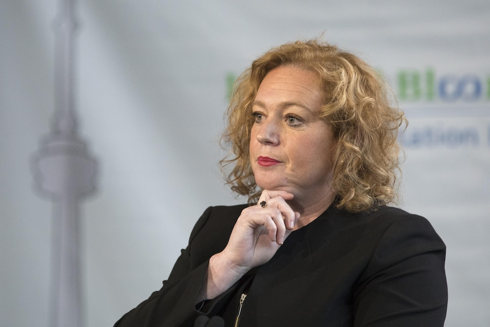 Lisa MacLeod Ontario's Minister of Children, Community and Social Services, looks on during an announcement in Toronto, on Wednesday, February 6, 2019. THE CANADIAN PRESS/Chris Young