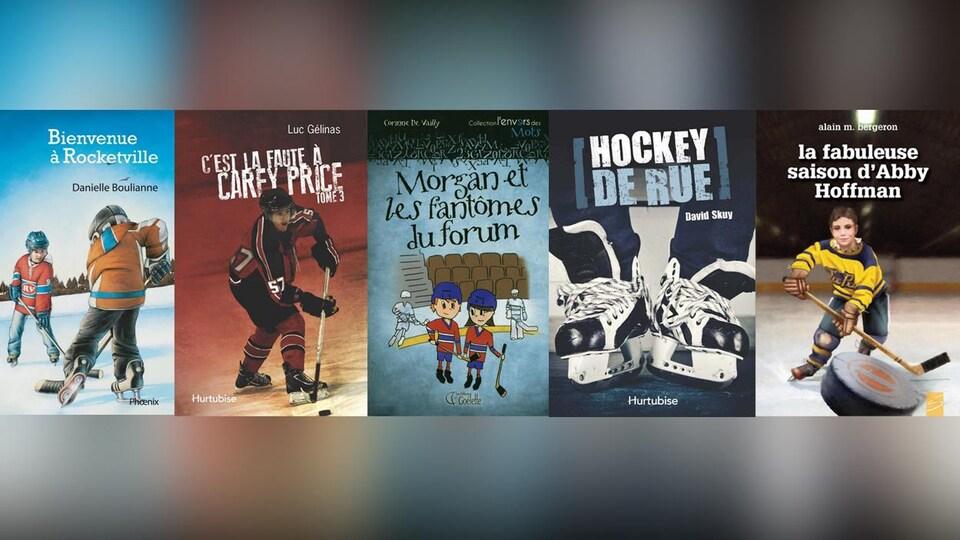Cinq livres jeunesse sur le hockey