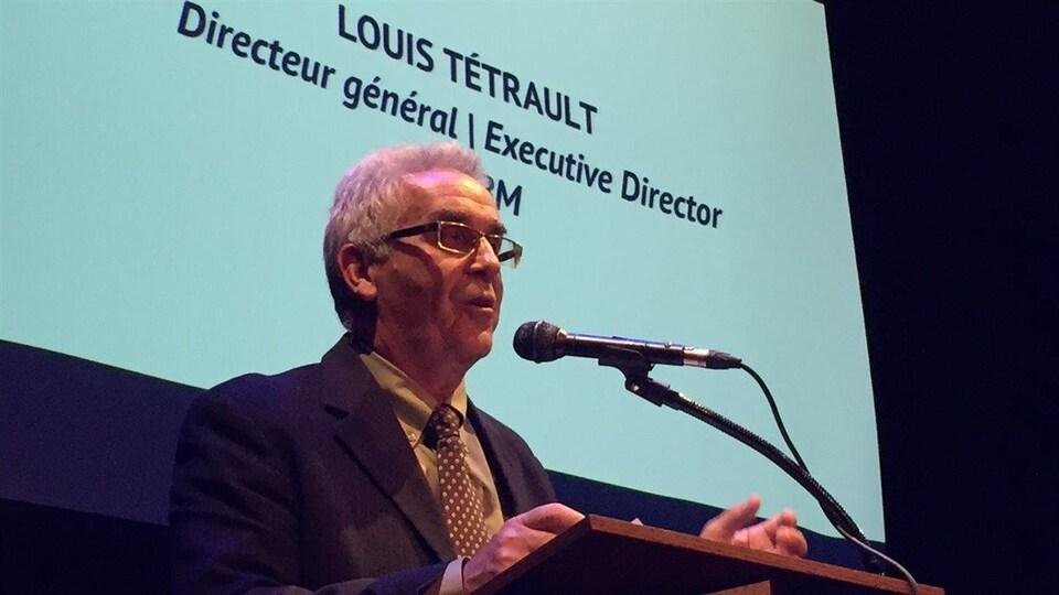 Le directeur général de l'Association des municipalités bilingues du Manitoba, Louis Tétrault.