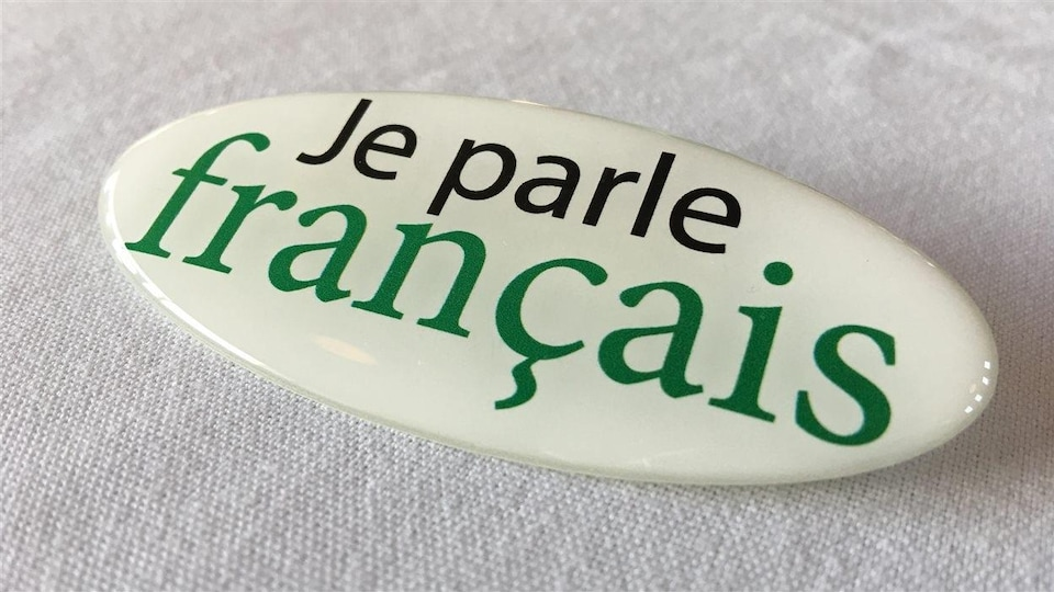 Macaron «Je parle français»