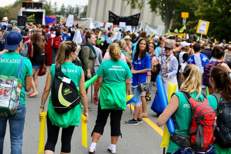 Manifestation contre l'austérité à Québec